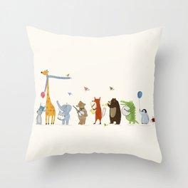 little parade Throw Pillow