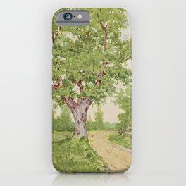 Vintage Print - Familiar Trees and Leaves (1911) - Chestnut iPhone Case