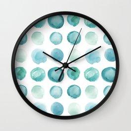 Blue Sea Glass Watercolor JUUL Wall Clock