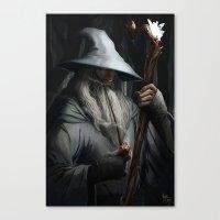 gandalf Canvas Prints featuring Gandalf by MATT DEMINO
