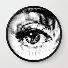Lina Cavalieri Eye 01 Wall Clock