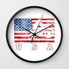 USA Motocross - Flag of America Wall Clock