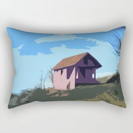 A Beautiful house on the hill Rectangular Pillow