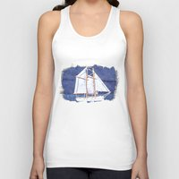sailboat Tank Tops featuring Sailboat by Michael P. Moriarty