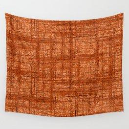 Textured Tweed - Rust Orange Wall Tapestry
