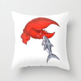 Great White Lobstah Lovah Throw Pillow