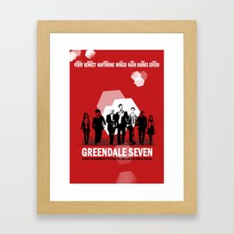 Greendale Seven Framed Art Print