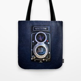 Black Retro Camera Tote Bag