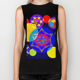 A Galaxy of Stars, Cubes and Planets Biker Tank