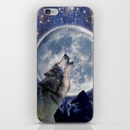 One Wolf Moon - Wildlife Art iPhone Skin