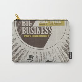 Vintage Poster - Beat Big Business, Vote Communist (1975) Carry-All Pouch