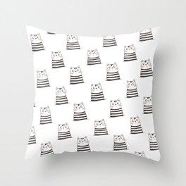 White Cats Throw Pillow