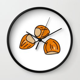 Hazelnuts Wall Clock