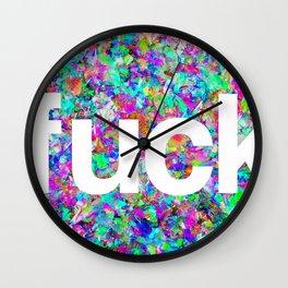 F*ck Confetti Wall Clock