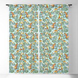 Oak Tree with Squirrels in Summer Blackout Curtain