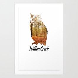 WillowCreek Owl Art Print