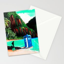 Tardis With Beauty Mermaid Stationery Cards