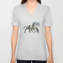 Autumn Horses Unisex V-Neck