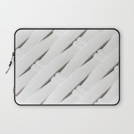 White texture of wicker Laptop Sleeve