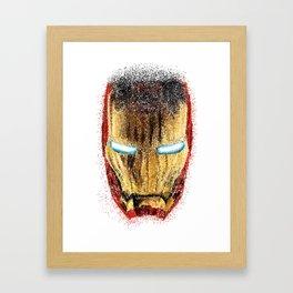 Iron Man Pointillism Framed Art Print