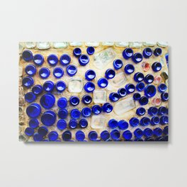 Colored Glass Bottle Wall 2 Metal Print