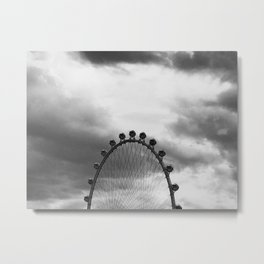 Back Side of the Link // London Eye Replica in Las Vegas Nevada City Strip Raw Landscape Metal Print
