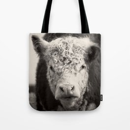How Now Brown Cow Square Format Tote Bag