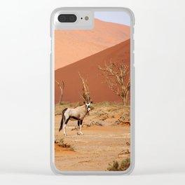 NAMIBIA ... Sossusvlei Oryx II Clear iPhone Case
