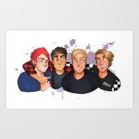 boys Art Prints featuring Boys by gabitozati