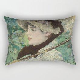 Edouard Manet - Jeanne (Spring) Rectangular Pillow