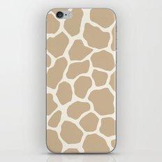 Giraffe Animal: Camel Cream iPhone & iPod Skin