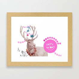 Happy Holiday Framed Art Print