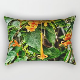 Spectacular orange trumpet flower Rectangular Pillow