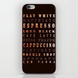 Coffee Types Poster iPhone Skin