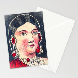 Vintage Matchbox Lady Stationery Cards