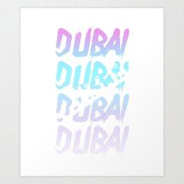 Dubai Arab Emirates Arabia Palm trees gift Art Print