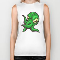 cthulhu Biker Tanks featuring Cthulhu by Artistic Dyslexia