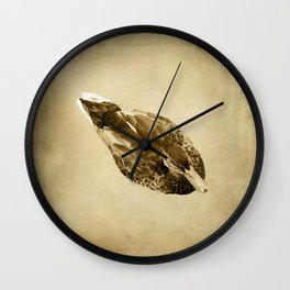 Duck on Brown Wall Clock