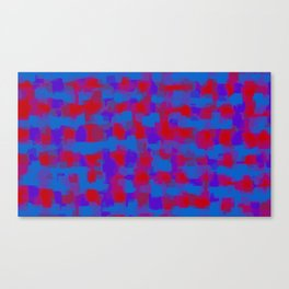 blue purple and red pattern painting abstract background Canvas Print