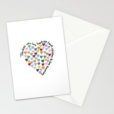 Hearts Heart Teacher Stationery Cards