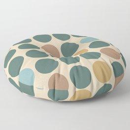Mid Century Modern Polka Dot Pattern 437 Floor Pillow
