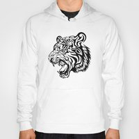 fierce Hoodies featuring Fierce Tiger by MaNia Creations
