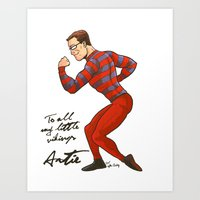 ARTIE! The Strongest Man in the World! Art Print