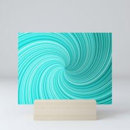 Colorful hypnotic spiral. Mini Art Print