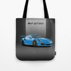 2016 Porsche 911 GT3 RS in Mexico Blue Tote Bag