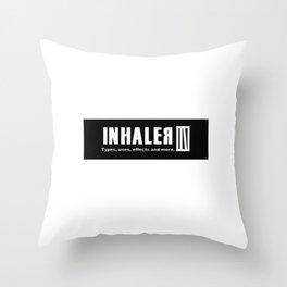 Inhaler; Part 1: white chapter. Throw Pillow