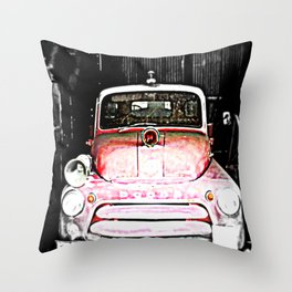 Dodge fire Truck Throw Pillow