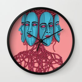 Four Faces Wall Clock