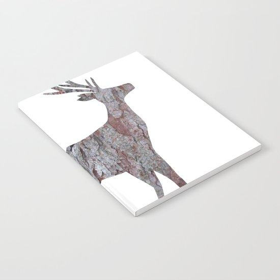 deer silhouette stag pine bark Notebook