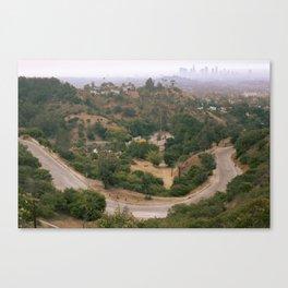 Los Angeles Under Smoke Canvas Print